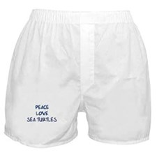 Peace, Love, Sea Turtles Boxer Shorts
