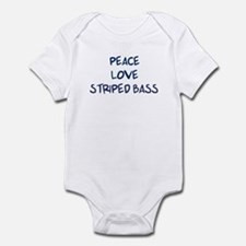 Peace, Love, Striped Bass Infant Bodysuit