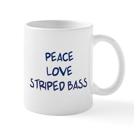 Peace, Love, Striped Bass Mug