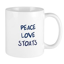 Peace, Love, Stoats Mug