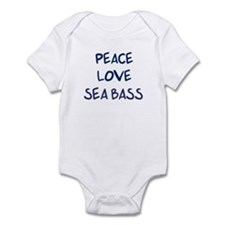 Peace, Love, Sea Bass Infant Bodysuit