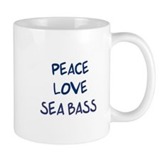 Peace, Love, Sea Bass Mug