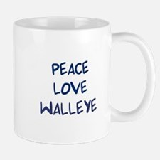 Peace, Love, Walleye Mug