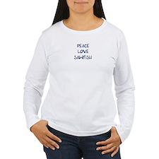 Peace, Love, Sawfish T-Shirt