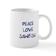 Peace, Love, Sawfish Mug