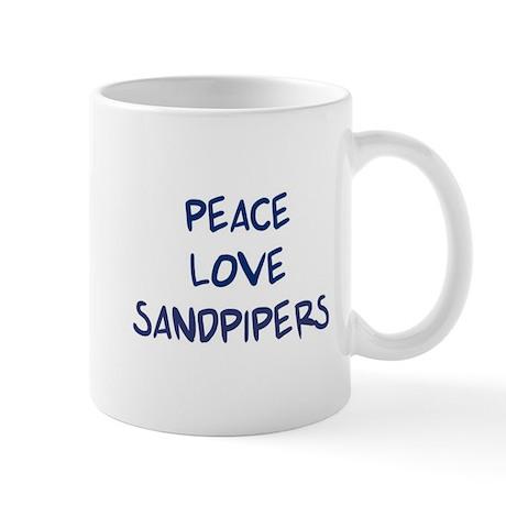 Peace, Love, Sandpipers Mug
