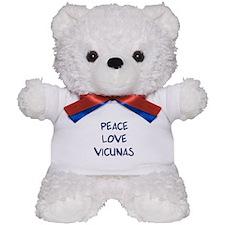Peace, Love, Vicunas Teddy Bear