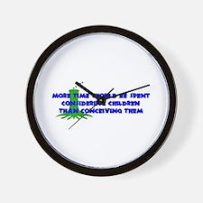 Think More Breed Less Wall Clock