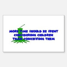 Think More Breed Less Rectangle Decal