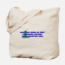 Think More Breed Less Tote Bag