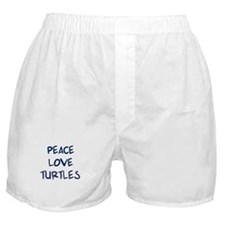 Peace, Love, Turtles Boxer Shorts