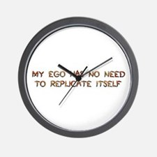 No Breeder Ego Wall Clock