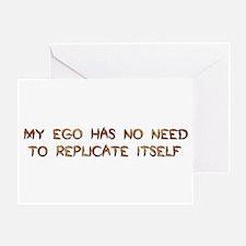 No Breeder Ego Greeting Card