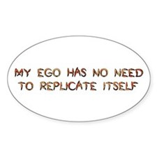 No Breeder Ego Oval Decal