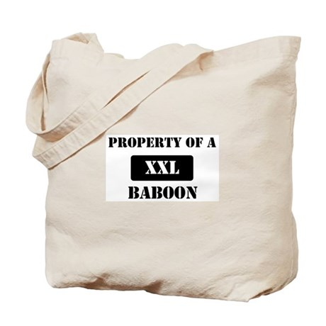 Property of a Baboon Tote Bag