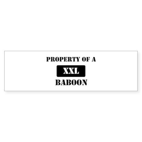 Property of a Baboon Bumper Sticker