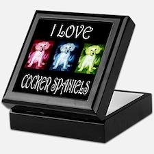 I Love Cocker Spaniels Keepsake Box
