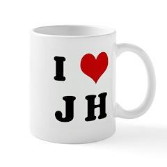 I Love J H Mug