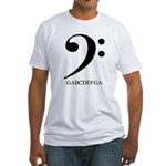 Bass Clef Fitted T-Shirt