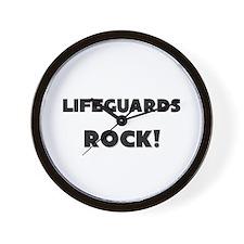 Lifeguards ROCK Wall Clock