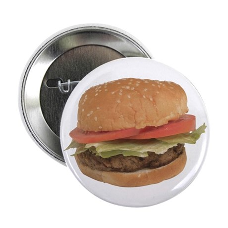 """A Hamburger On Your 2.25"""" Button (100 pack)"""