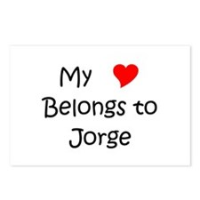 Jorge name Postcards (Package of 8)