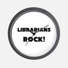 Librarians ROCK Wall Clock