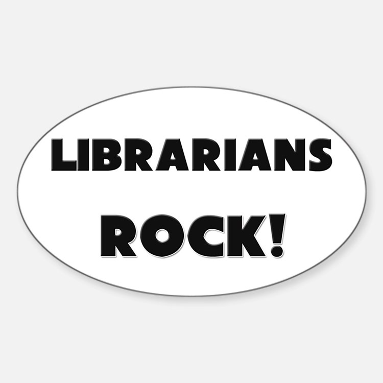 Librarians ROCK Oval Decal