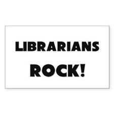 Librarians ROCK Rectangle Decal