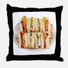 A Club Sandwich On Your Throw Pillow