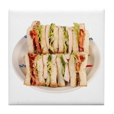 A Club Sandwich On Your Tile Coaster