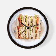 A Club Sandwich On Your Wall Clock