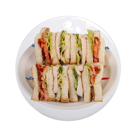 A Club Sandwich On Your Keepsake (Round)