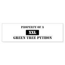 Property of a Green Tree Pyth Bumper Bumper Sticker