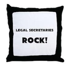 Legal Secretaries ROCK Throw Pillow