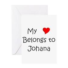 Johana Greeting Card