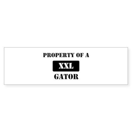 Property of a Gator Bumper Sticker