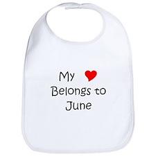 Funny June Bib