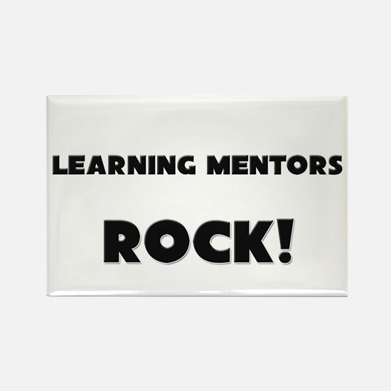 Learning Mentors ROCK Rectangle Magnet