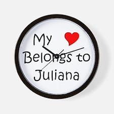 Cute Juliana Wall Clock