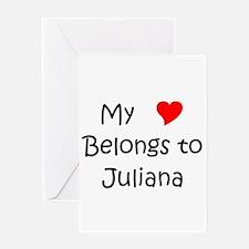 Cute Juliana Greeting Card