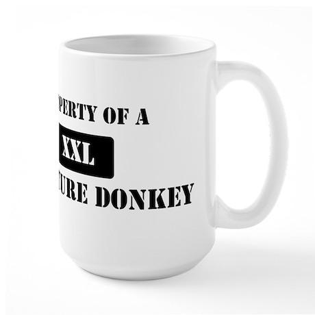 Property of a Miniature Donke Large Mug