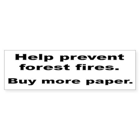 Environmental Message Bumper Sticker