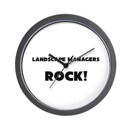 Landscape Managers ROCK Wall Clock