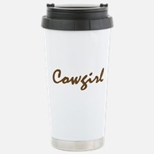 cowgirl Stainless Steel Travel Mug