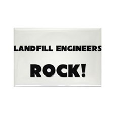 Landfill Engineers ROCK Rectangle Magnet