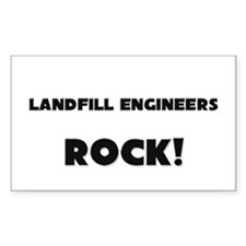 Landfill Engineers ROCK Rectangle Sticker