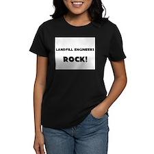 Landfill Engineers ROCK Women's Dark T-Shirt