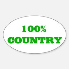 100% Country Oval Decal