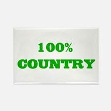 100% Country Rectangle Magnet